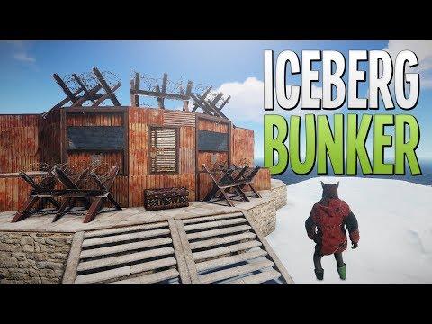 ICEBERG BUNKER BASE! - Rust SOLO Survival Gameplay