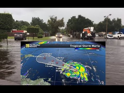 TINNHANH 24H || Tropical Storm Maria is coming Lesser Antilles, Puerto Rico and Virgin Islands