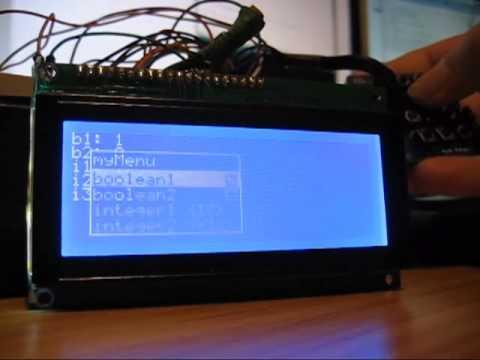 Arduino: OO Menu for gLCD