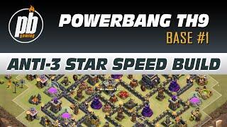TH9 Anti-3 Star Base Design for Clanwars - Powerbang Base #1