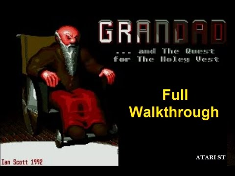 Grandad and The Quest for The Holey Vest - Atari ST (Full Walkthrough & Commentary)