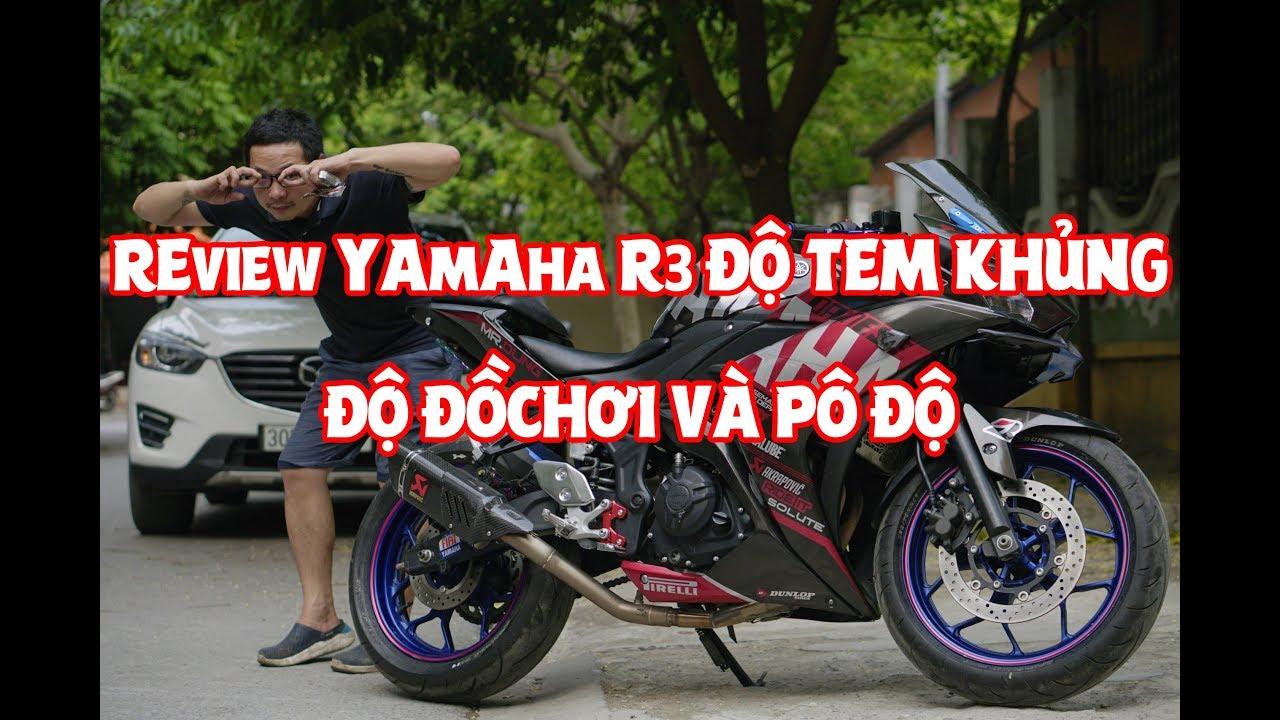 Yamaha R3 Độ Tem trùm Đẹp hơn sơn vẽ, ĐỒ chơi cơ bản cho R3 có những gì?