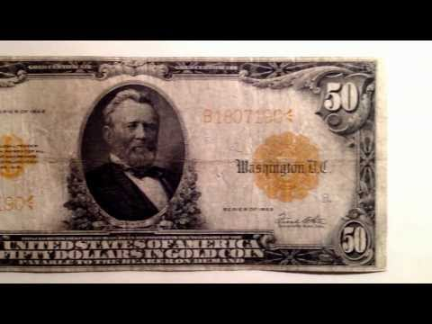 1922 Large $50 Gold Certificate