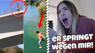 Mann springt wegen mir von Brücke 😨  ( kein Clickbait !! )  | BibisBeautyPalace
