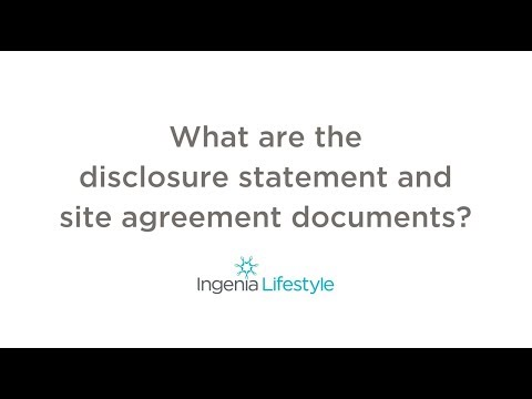 FAQ: What are the Land Lease Disclosure Statement and Site Agreement Documents?