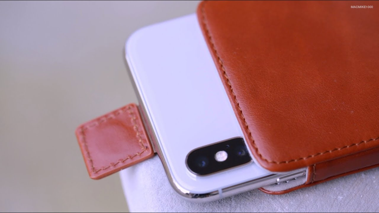 "finest selection 6ad1b fe6f0 KAVAJ ""Miami"" Holster Leather Case - Cognac Brown (iPhone X)"