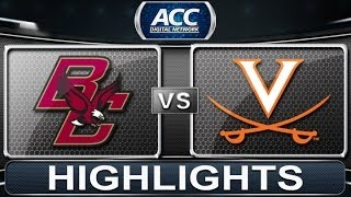 Boston College vs Virginia | 2014 ACC Women