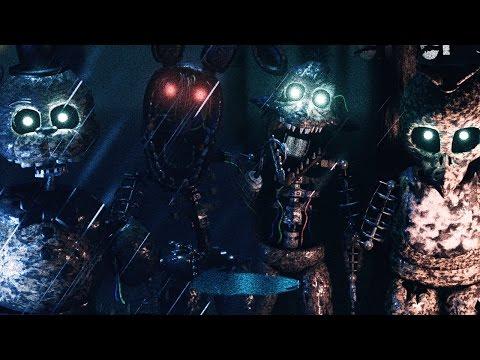 Five Nights In Anime: Part 2 (Night 4) - GOLDEN FREDDY BOOB