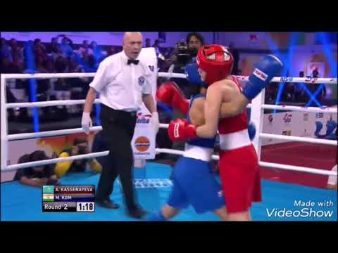 Mary kom's best fight. India🇮🇳 Vs Kazakhstan 🇭🇹