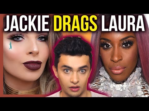 LAURA LEE DRAAGGED BY JACKIE ON TWITTER & SNAP! - LAURA LEE CATS PAJAMAS EYE SHADOW PALETTE TUTORIAL