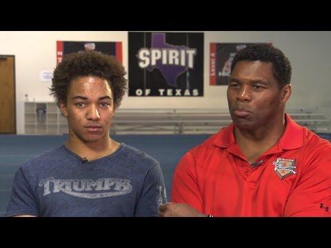 Herschel Walker on son's cheerleading success