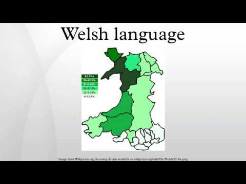 Welsh Language YouTube - World map in welsh language