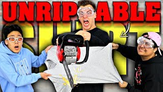 THIS SHIRT IS INDESTRUCTIBLE!! (IMPOSSIBLE CHALLENGE)