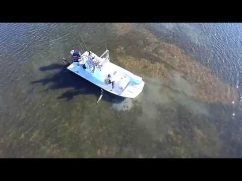 First Drone Fishing Flight near Baffin Bay, Texas with Team Hammer Time