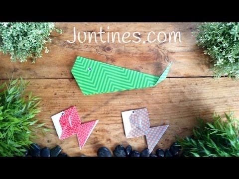 Cómo hacer una ballena de origami paso a paso