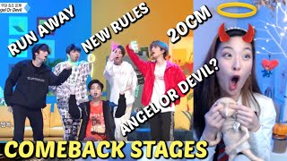TXT COMEBACK STAGES: Run Away, 20cm, Angel or Devil, New Rules REACTION | Tomorrow x Together