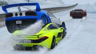 FINAL EPICO!! CON NIEVE!! - CARRERA GTA V ONLINE - GTA 5 ONLINE