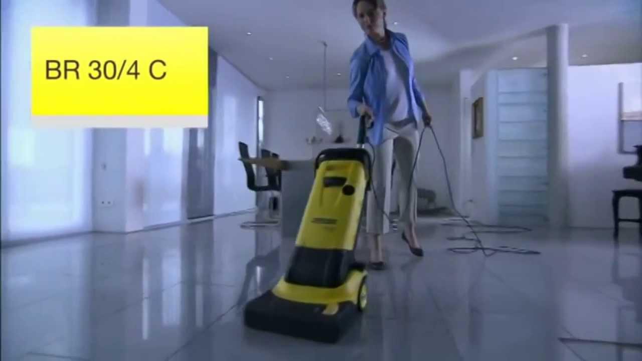 karcher br 30 4 c professional scrubber drier at youtube. Black Bedroom Furniture Sets. Home Design Ideas