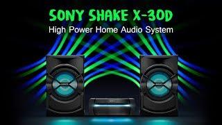 Sony Shake X30D High Power Home Audio System | Bluetooth Speaker DJ, Karaoke and Hifi Music System