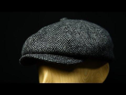 56838d13da1af Top 10 Flat Caps For Men  2018    Shelby  Newsboy Grey Herringbone Cloth Cap  By Gamble   Gunn