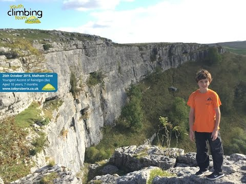 Toby Roberts: Raindogs 8a at 10 years-old