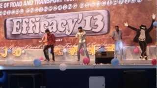 irtt 1st yr mech students dance at efficacy 2k 13 joshgala