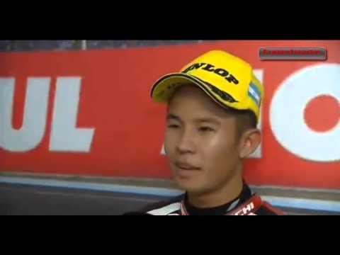 Malaysian Rider Khairul Idham Pawi Interviewed After Winning A Race.