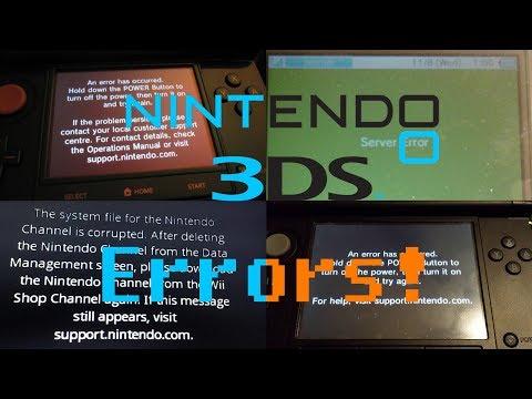 Nintendo 3DS All Errors! + Forgotten Wii Error