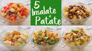5 IDEE per INSALATA FREDDA DI PATATE Ricetta Facile - 5 Easy Potato Salad Recipes