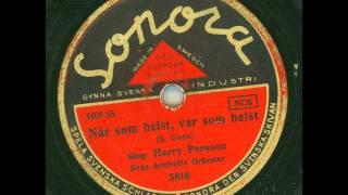 Harry Persson Sven Arefeldts orkester - När som helst, var som helst