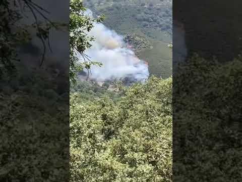 Controlado un nuevo incendio declarado en el municipio de Candeleda en Ávila