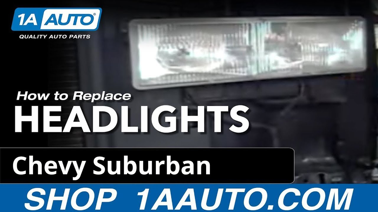 how to replace headlights 92 99 chevy suburban [ 1280 x 720 Pixel ]
