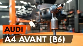 How to change Track rod end ball joint on AUDI A4 Avant (8E5, B6) - online free video