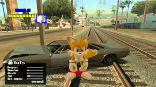 GTA San Andreas (Sonic Mod) [Sonic Characters] PC Gameplay Part 1
