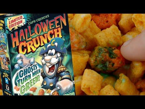 Cap'n Crunch's Halloween Crunch Cereal REVIEW (1080p)