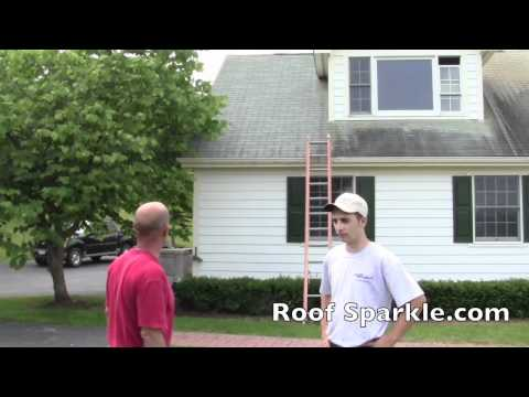 How to remove those ugly black stains on a roof with Roof Sparkle