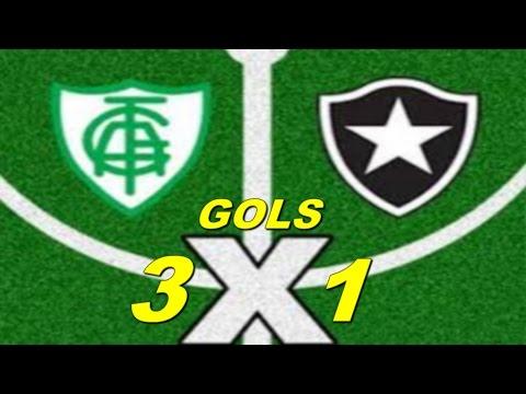 Botafogo 3 x 1 América MG   Brasileirão- 2016