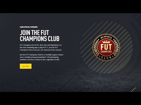 How to join the FUT Champions Club & be eligible to participate in the Championship Series on FUT17!