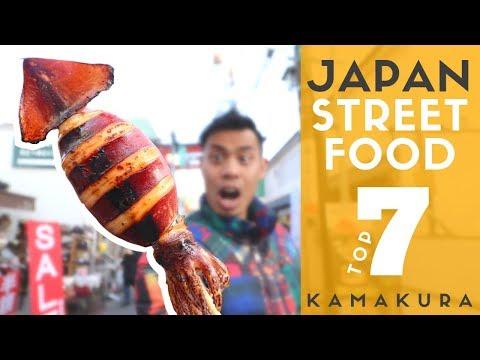 Japan Street Food Tour Top 7 at Kamakura Komachi Dori