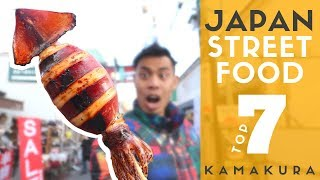 Japan Street Food Tour Top 7 at Kamakura Komachi Dori