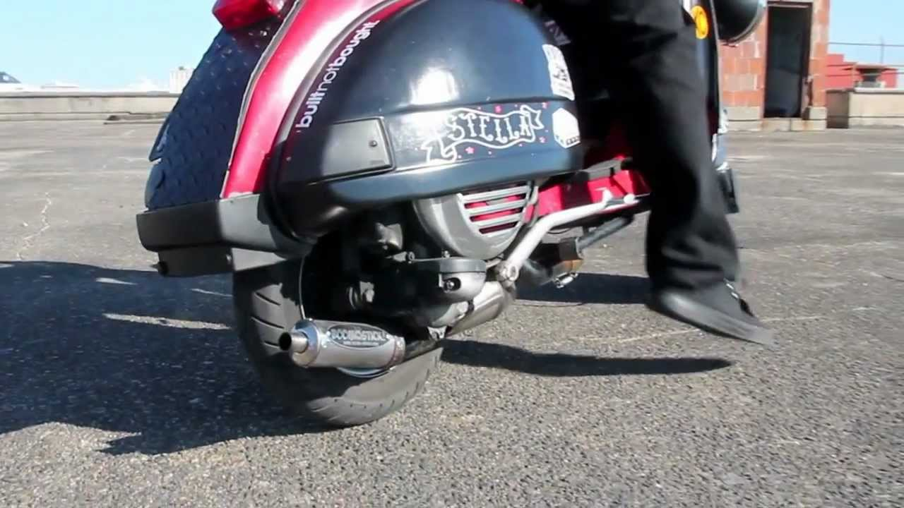 150cc Stella with a boomstick exhaust - YouTube