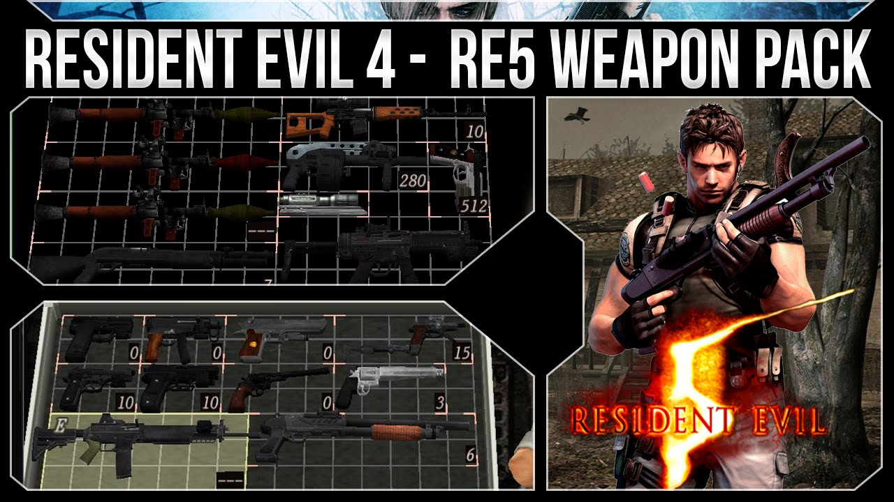 Resident Evil 4 PC - Mods de Armas - Pack Armas do Resident Evil 5