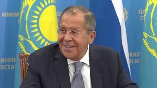 Пресс-конференция С.Лаврова и М.Тлеуберди, Нур-Султан, 9 октября 2019 года