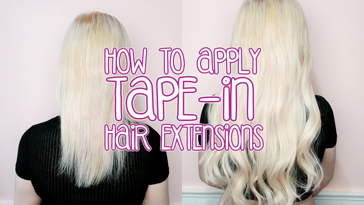 How to apply tape in hair extensions by tashaleelyn youtube pmusecretfo Image collections