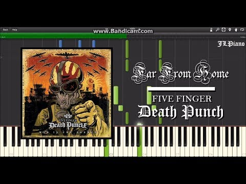 Far From Home  Five Finger Death Punch Synthesia Piano Solo