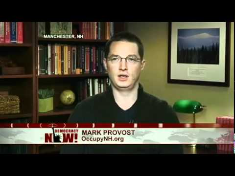 Mark Provost of Occupy New Hampshire on Exchange With Mitt Romney Over Corporate Personhood