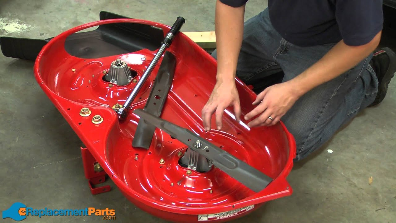 How To Sharpen The Blades On A Lawn Tractor Youtube Moen 7907 Parts List And Diagram Ereplacementpartscom