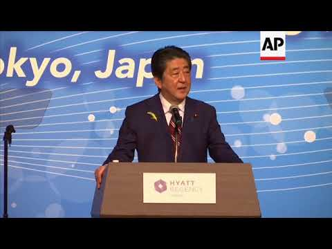 Japan PM Abe opens Asia-Pacific trade meeting