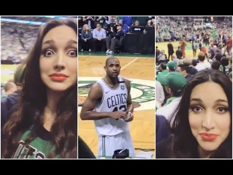 Al Horford's wife reacts after JR Smith's flagrant foul on her husband