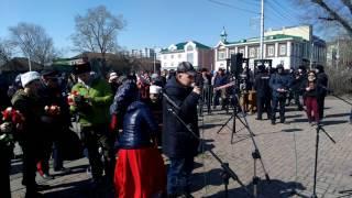 Андрей Маевич на митинге в поддержку жертв теракта в Санкт Петербурге